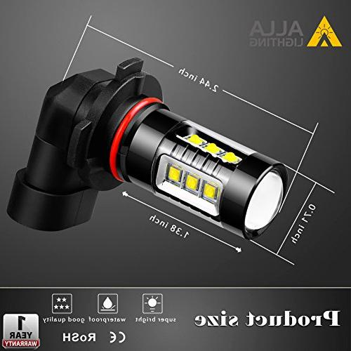 Alla Lighting Extreme Bright H10 Bulb Power 80W LED Bulbs 9140 9145 Fog Replacement,
