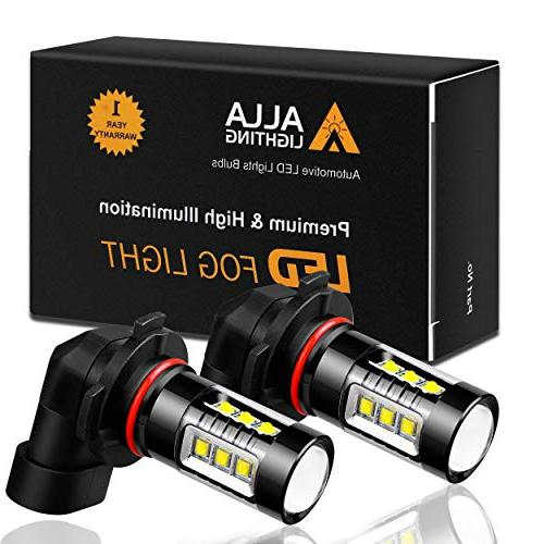 Alla Super Bulb Fog Light High Power 12V LED 9140 9145 Light Lamp Replacement, Xenon White