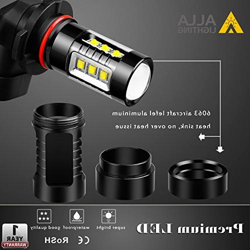 Alla Lighting Extreme Bright 9145 Bulb Light Power LED Bulbs 9140 9045 9145 Fog Light Replacement, 6000K Xenon