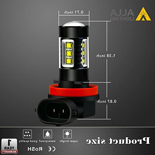 Bright H11 LED Fog 80W H11 H111 Lamp Replacement, 6000K Xenon