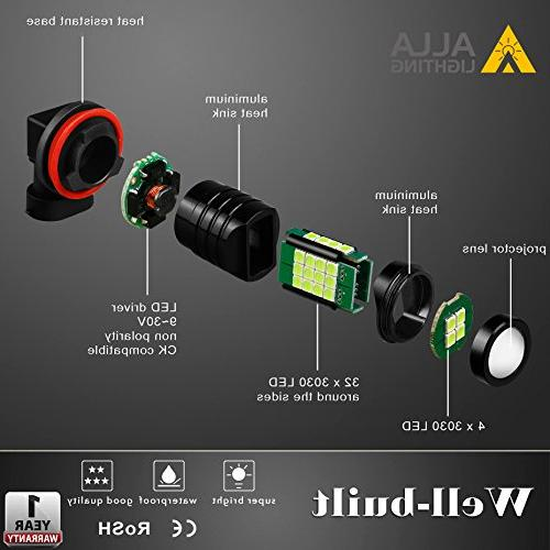 Alla Super H11 Fog 2000 High Power 3030 36-SMD 8000K LED Bulb H11LL H8 H11 Fog Lights Lamp w/Projector