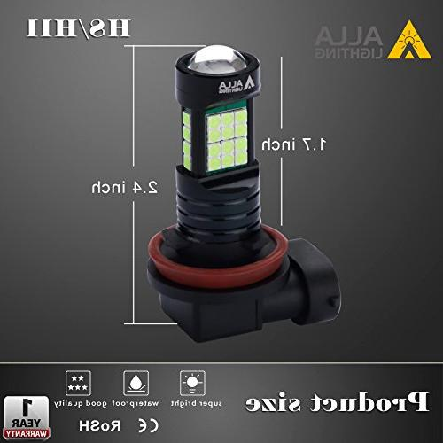 Alla Super Bright H11 LED Fog 2000 3030 8000K LED H8 H16 H11 Lights Lamp Bulbs w/Projector