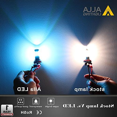 Alla H11 Fog 2000 Lumens High 3030 36-SMD 8000K Blue H11 LED H11LL H8 H11 Fog Lights w/Projector