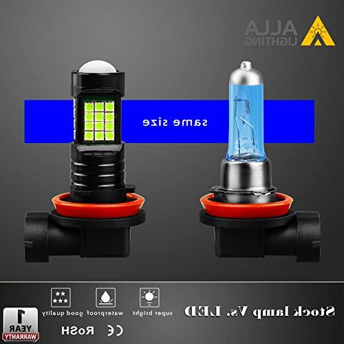 Alla H11 2000 High 3030 36-SMD LED 8000K Ice Blue LED H8 H16 H11 Lights Replacement w/Projector