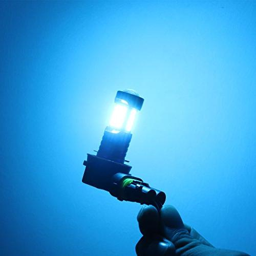 Alla H11 2000 3030 LED H11 8000K Ice Blue H11 LED H8LL H8 H16 H11 Lights Lamp Replacement w/Projector