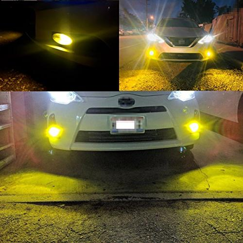 Alla Lighting Bright H11 Fog Lights 2000 Lumens Yellow H11LL H11 Yellow Lights Lamp