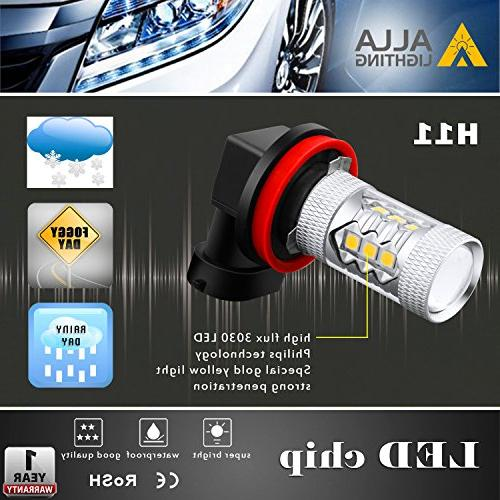 Alla H11 LED Lights 2000 High Power 3030-SMD H11 Yellow H11LL H8 H11 Lights Lamp