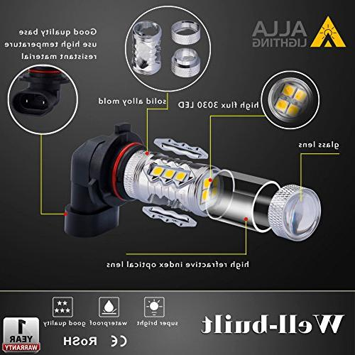 Alla Lighting H11 Lights 2000 Lumens 3030-SMD LED Yellow H16 LED H11 Lamp Bulbs Replacement