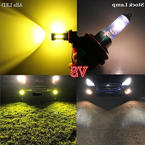 Alla H11 LED 2000 Power 3030-SMD Yellow H16 H11 LED H11 Fog Lamp