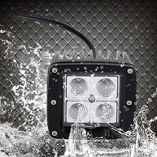 DOT 16W Cube Flood OffRoad Driving Backup Boat Jeep Wrangler Rubicon Jk Dodge F150