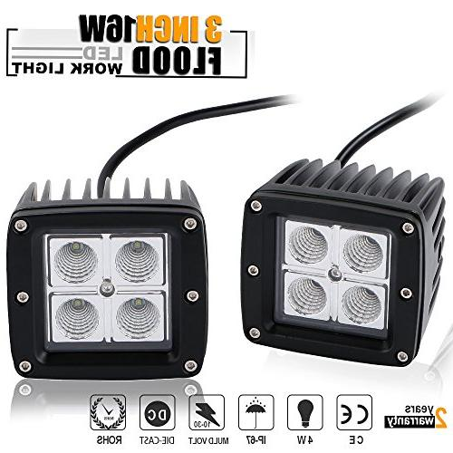 "DOT 3X3"" inch 16W Cube Pods Flood OffRoad Driving Fog Lights"