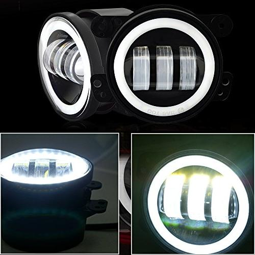 TURBOSII Led DRL + Inch LED Halo Ring + Turn Signal Lights 2007-2017 Rubicon JKU Sahara Unlimited