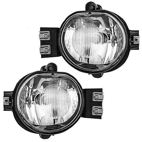 Driver and Passenger Fog Lights Lamps Replacement for Dodge