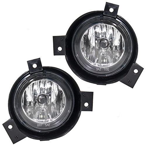 Driver and Passenger Fog Lights Lamps with Brackets Replacem