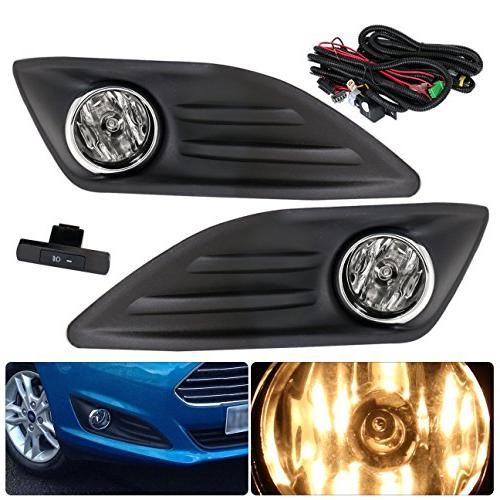 For Ford Fiesta Clear Fog Lights Lamp Front Driving Bumper R