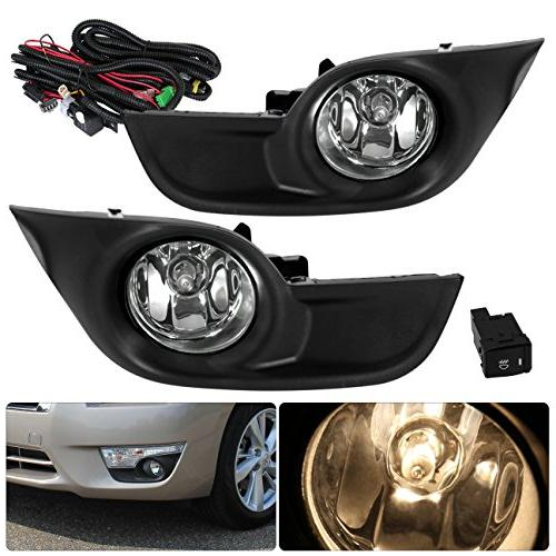 For Nissan Altima Clear Lens Fog Lights Bumper Driving Lamps