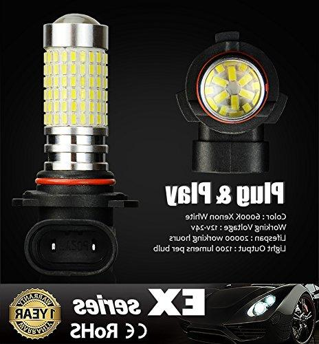 JDM Extremely Bright 144-EX H10 9140 9050 9155 LED Bulbs DRL Xenon