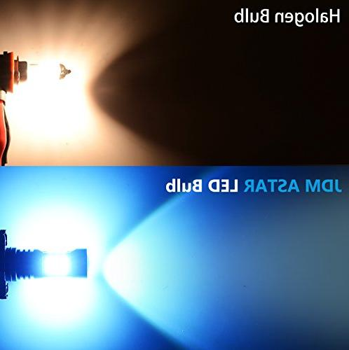 JDM 2400 Extremely Chips H11 LED Light Bulbs or Blue