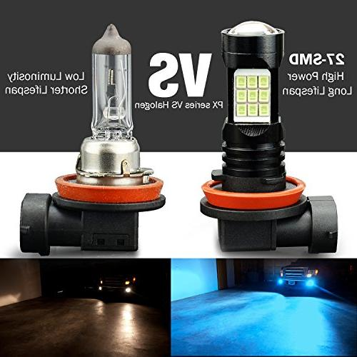 JDM 2400 Lumens Extremely Bright Chips H11 H8 Light for or Fog Blue