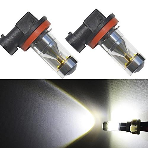 JDM ASTAR Extremely Bright H11 LED Fog Light Bulbs w/ Reflec