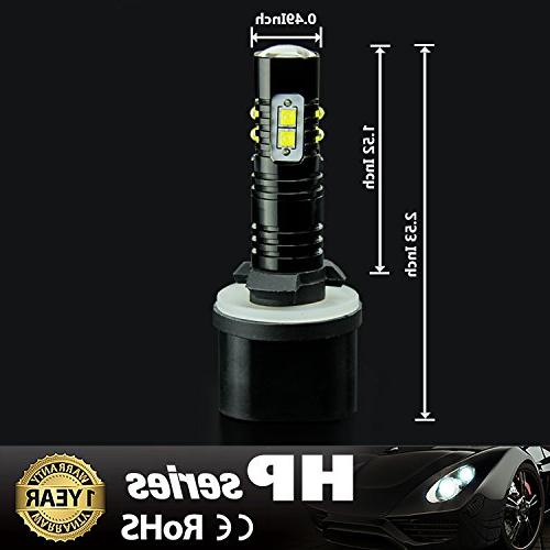 JDM Extremely Max 50W High Power 880 Fog Bulbs for DRL or Fog White