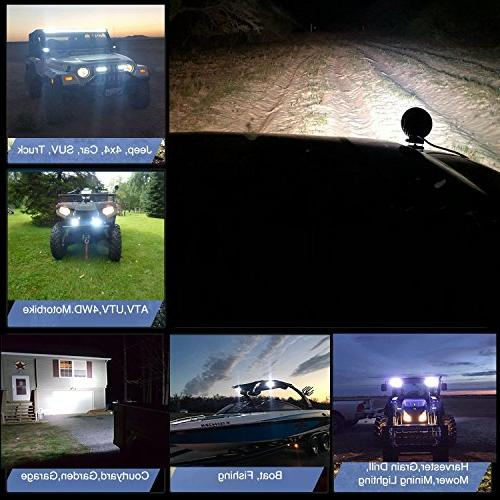 TURBO 4Pack 27W Flood Led Fog For Off-Road Suv Boat 4X4 Jeep 4Wd Truck