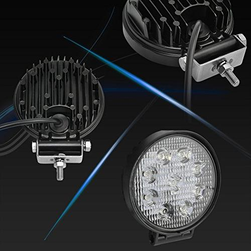 Liteway 4 Inch X Flood CREE LED Lights Light Work Waterproof for Jeep Off Car Truck 4X4,