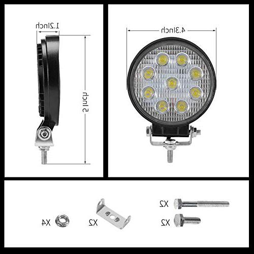 Liteway Pcs LED Inch LED Tractor Offroad 4WD Lamp Daytime Running 5 Warranty