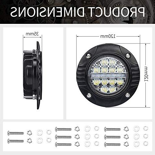 Liteway 4Inch Led with Signal Lamp LM Beam Lights Waterproof Light Mount Tacoma