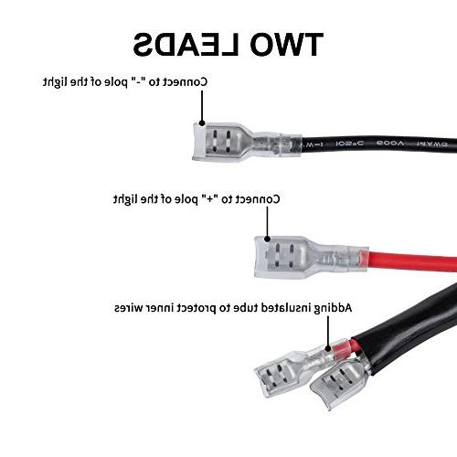 Liteway One-To-Two Universal LED Light Bar Wiring Harness on