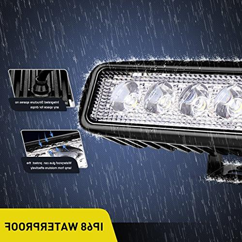 Nilight Led Light Bar 2PCS Fog Light lights Led SUV Jeep Lamp,2 years Warranty