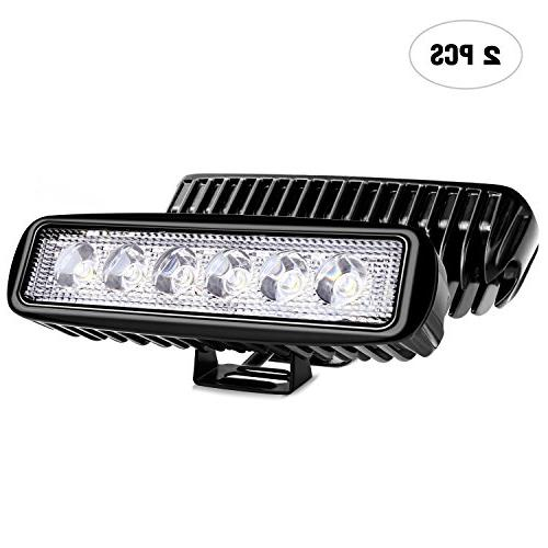 Nilight Led Light Bar 2PCS 18w Spot Driving Fog Light Off Ro