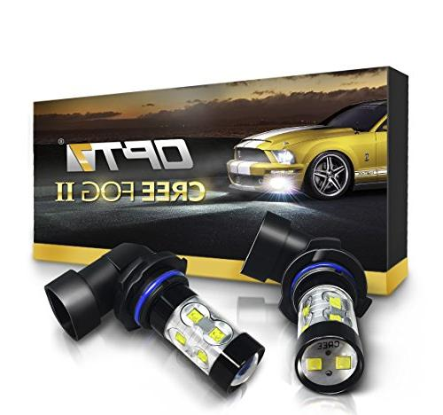 OPT7 H10  CREE XLamp LED DRL Fog Light Bulbs - 5000K Bright