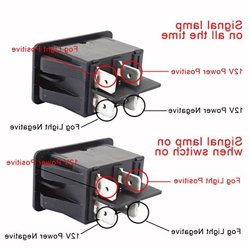 TOMALL Fog Light Toggle DC 35A ON/OFF Switch Red LED