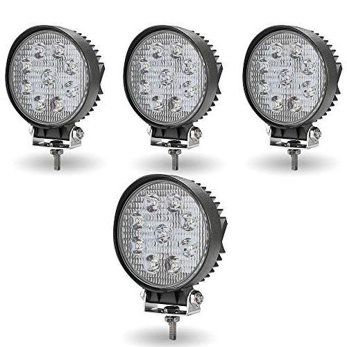 TURBO SII 4Pack 4inch 27W Flood Round Pods Led Work Light Dr