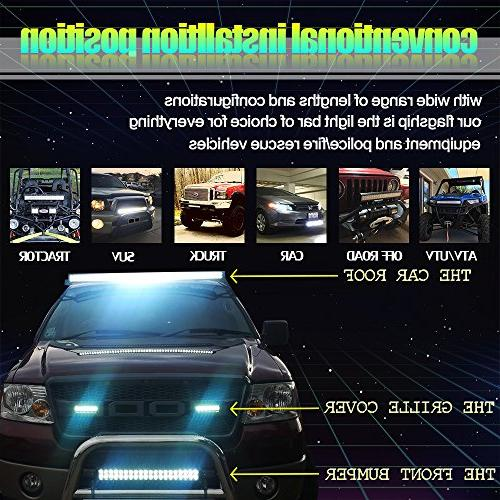 """TURBOSII 50"""" Light Bar Offroad 4"""" Pods Cube Auxiliary Driving light Lamp On Grill Windshield Truck Tahoe ATV"""