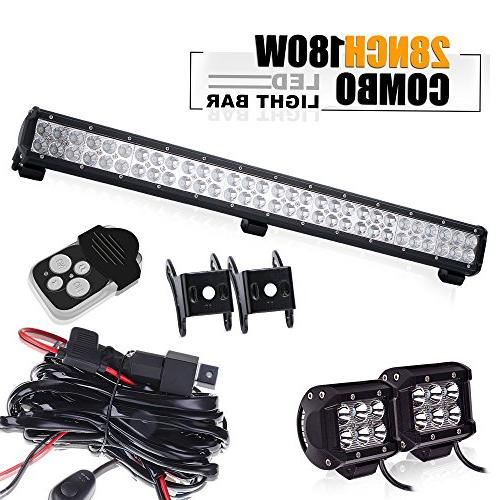 "TURBOSII DOT Approved 28""180W 12V-24V Spot Flood Offroad Led"