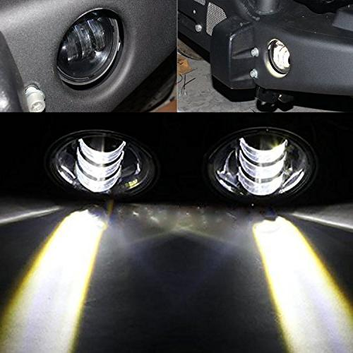 TURBOSII Led Fog Lights Offroad Front Bumper Lamps 4 inch Ro