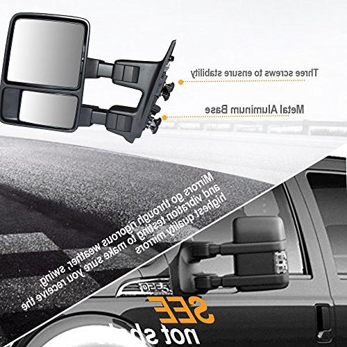 Towing Mirrors Approved Mirrors For Super Truck Extendable LED