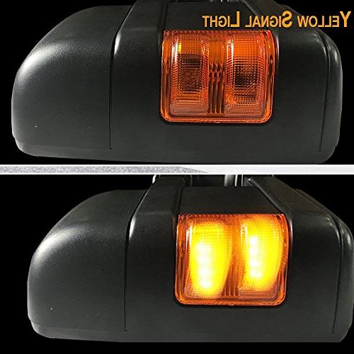 Towing Approved Tow View Side Mirrors For 1999-2007 Ford Super Extendable Power Heated