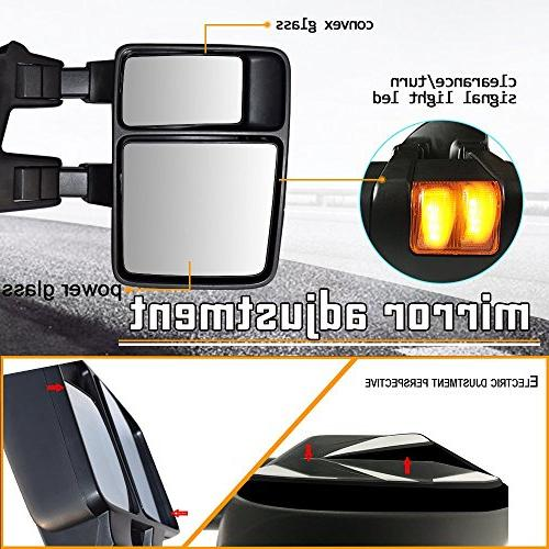 Towing Mirrors DOT Approved Pair Rear Tow Mirrors F250 F350 F450 F550 Super Extendable LED Signal Light
