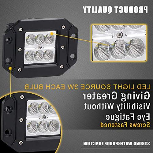 Turbo 2pcs Light Lamps D2 Off Up Jeep F150 F350 Tacoma Dodge Ram Chevy Front/Rear Bumper