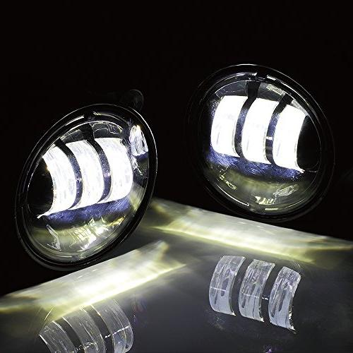 Xprite PCs 4 Inch 4800LM Fog Lights for Jeep TJ LJ Tractor Boat Fog Auto Led Headlight Lamp