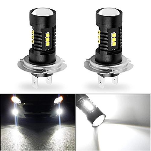 YITAMOTOR Bright 60W LED Fog Light 6000k with Projection (NOT Headlight)