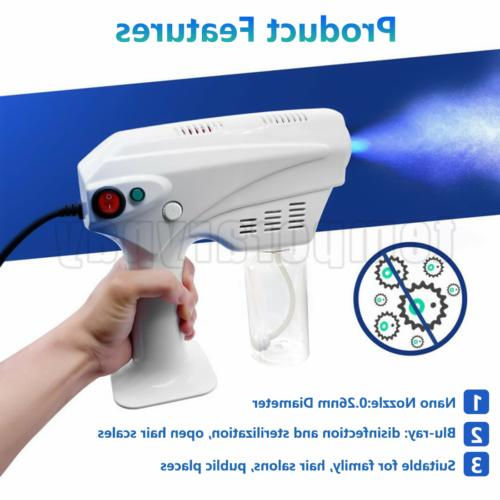 Blue Light Spray Gun Fog Anion Nano