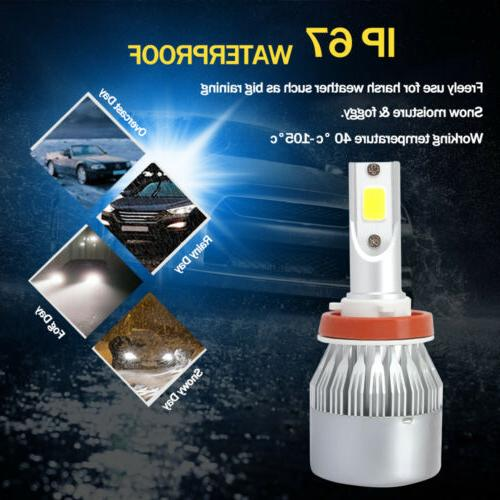 Blue COB Headlight 100W 20000LM Low Beam Fog