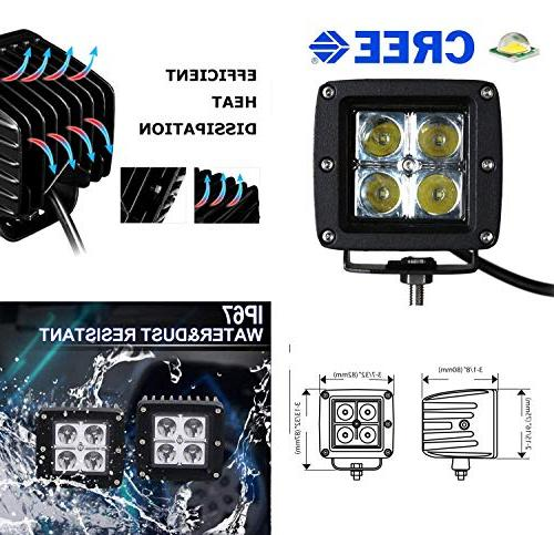 iJDMTOY LED Fog Lamp Kit For 2014-up Toyota 20W High Power LED Foglight Covers, Brackets & Wiring/Adapter Harnesses