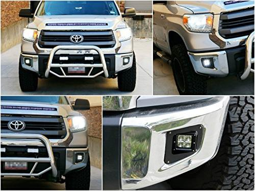 Fog Lamp 2014-up Tundra, 20W LED Cubes, Covers, Wiring/Adapter Harnesses