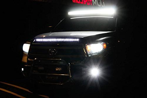 iJDMTOY Fog Kit 2014-up Toyota Tundra, Includes 20W High LED Covers, Wiring/Adapter
