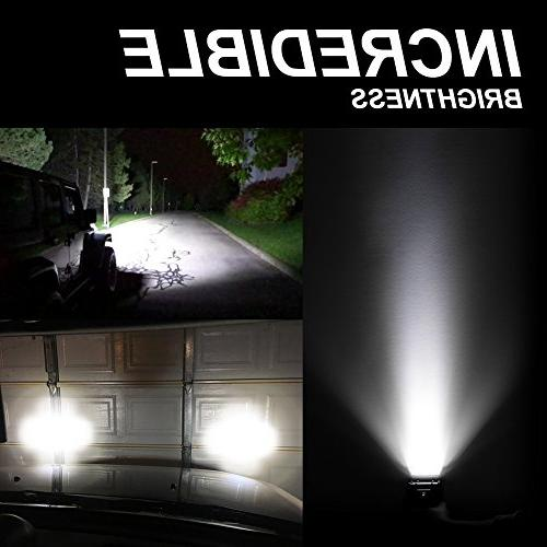 LED Quad Row Spot OSRAM Work Pods Fog for Jeep Boat Warranty